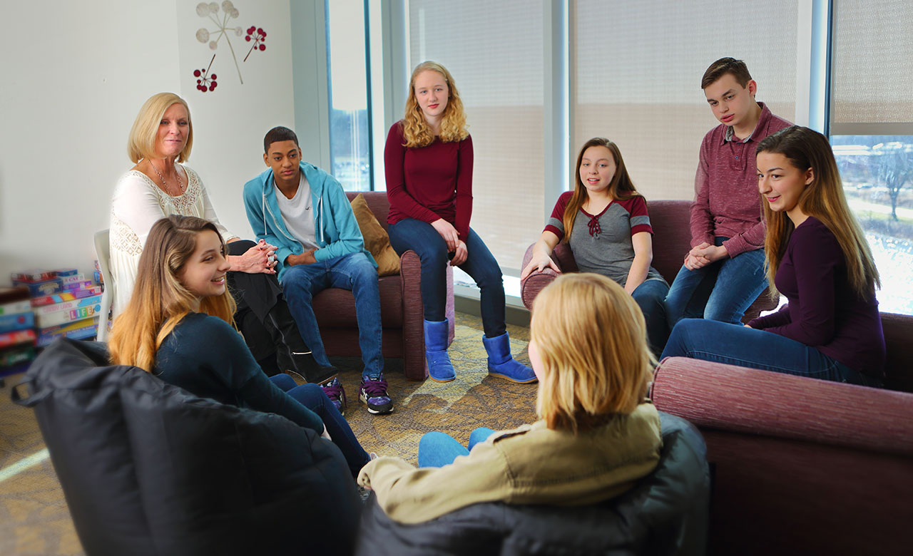 Group therapy session at the Center for Eating Disorders