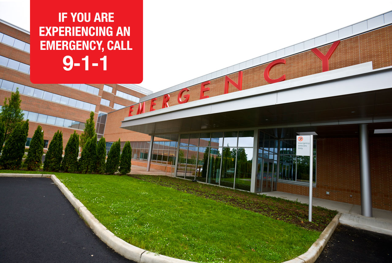 IF YOU ARE EXPERIENCING AN EMERGENCY, PLEASE CALL 9-1-1