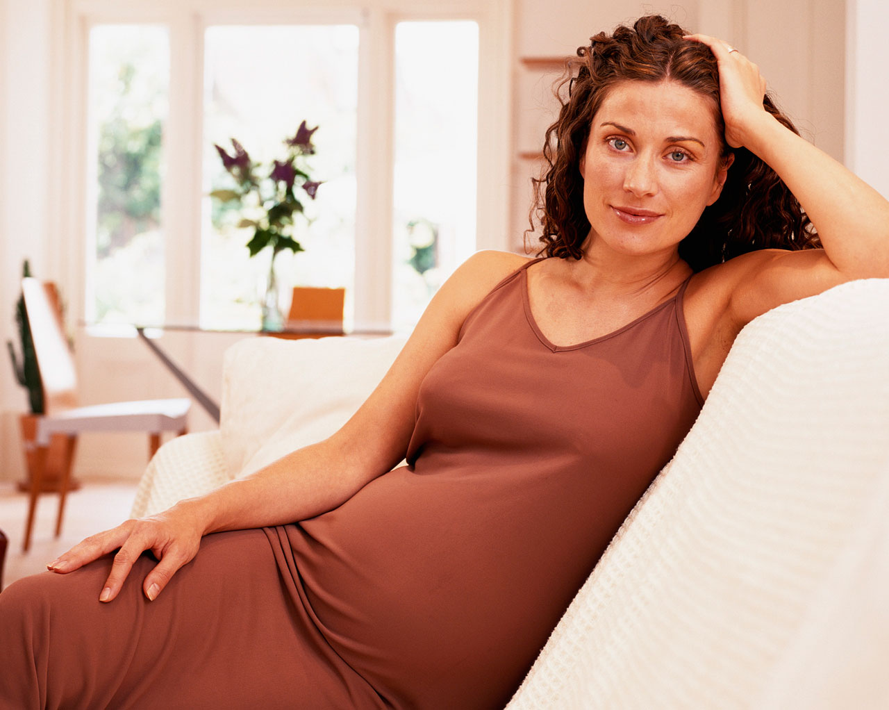 pregnant woman lounging
