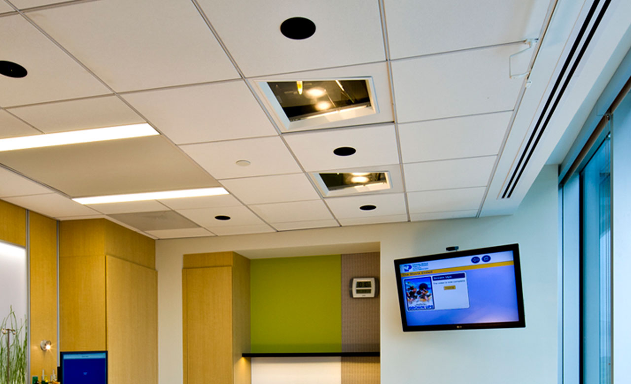 inset of ceiling surgical lights