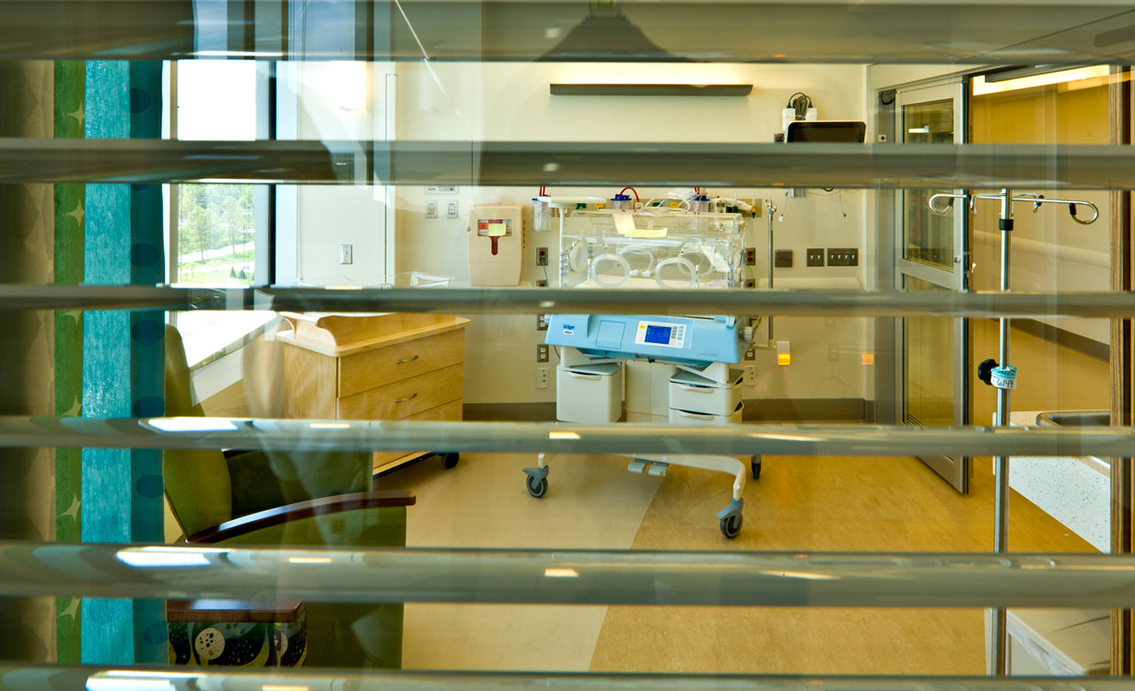 NICU nurse station window