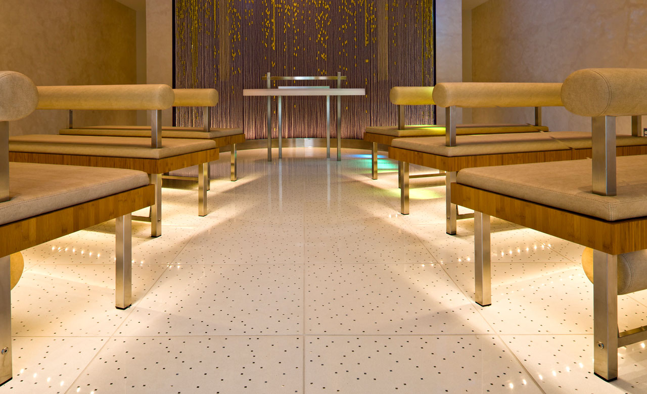 chapel of light terrazzo floor