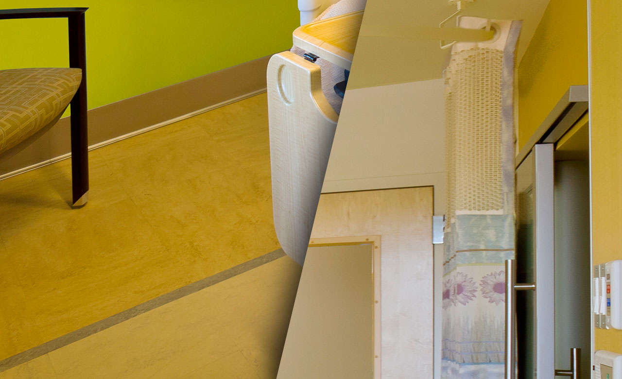 antibacterial flooring and curtains