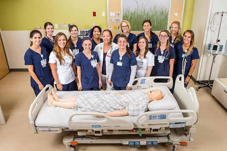 Wendy Lucca with resident nurses